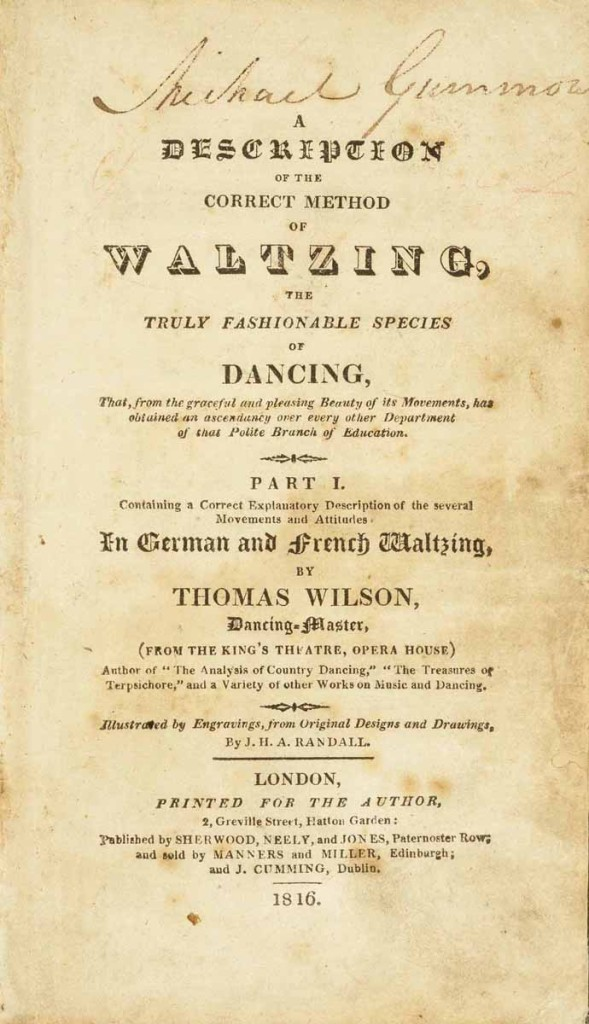 Winterthur Library, Dance, GV1761_W75_Title-page